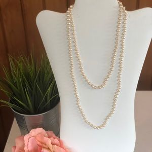 Pair of Simulated Pearl Necklaces